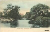 C-1905 Montgomery Illinois Old Mill Ruins Hand Colored postcard 7284
