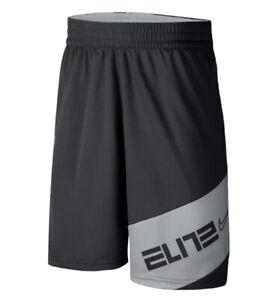 NIKE ELITE Boys DriFit Graphic Basketball Shorts CZ3817 SZ M (10-12) Gray  NWT