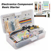 Electronics Component Starter Kit W/ 830 Breadboard Cable Resistor For Arduino