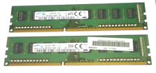 Lot de Ram 8gb 8go 2*4gb ddr3 pc3  12800U pour intel Micron, samsung...