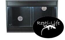 Repti-Life Vivarium 24x15x15 in Black, 2ft vivarium