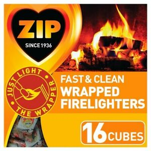 Zip Fast & Clean Wrapped Firelighters Pack 16 [5668]