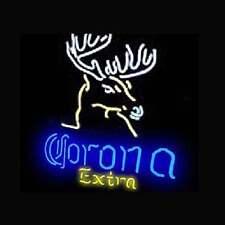 """New Corona Extra Deer Beer Neon Light Sign 17""""x14"""""""