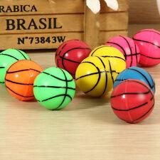 10xSmall Jumping Basketball Ball #V Kid Outdoor Toy Rubber Elastic Bouncing Ball