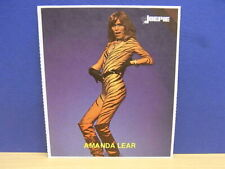 1x Sticker - decal Joepie / Amanda Lear French Singer with org.back 80's (02229)