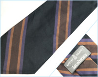 "ROBERT TALBOTT JACOBSON'S Black Repp Striped Designer Silk Tie USA -- 57"" x 4"""