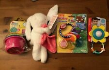Baby Lot of 4 items incl. Nuby teether, Infantino rattle, Carters bunny, First Y