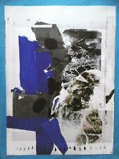 CLAVÉ Antoni Affiche originale cartel original 86 Abstrait Sapone Nice Espagne