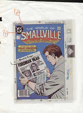 JOHN BYRNE SUPERMAN SMALLVILLE #2 PRODUCTION ART COVER 3M PROOF COLOR SEPARATION