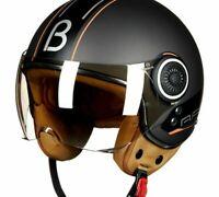 Retro Motorcycle Helmet Vintage 3/4 Open Face ECE Approved Scooter Moto Bike