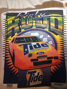 VTG Ricky Rudd NASCAR White Tshirt, Ricky Rudd 10 Tide Racing Team XL