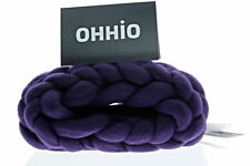 Ohhio Merino Wool Super Chunky Big Yarn Infinite Scarf -Cowl Neck- Snood- Purple