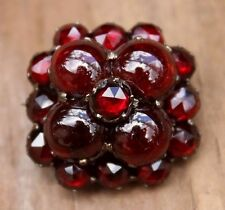 Antique Victorian Garnet Brooch Pin Vintage Jewellery Jewelry 1880s 1890s Ladies