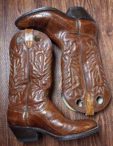 WRANGLER COWBOY BROWN BOOTS SIZE 9 Men's