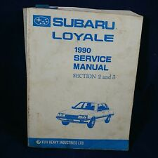 Subaru Loyale 1990 Service Manual Section 2 & 3 Book Transmission Differential