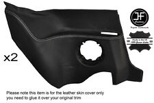 WHITE STITCHING 2X REAR LOWER PANEL LEATHER COVER FITS RENAULT ALPINE GTA V6