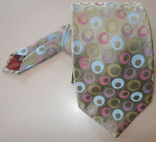 SUSANNAH HALL LONDON PURE SILK TIE GREEN PASTEL BLUE PURPLE PINK NECKTIE