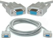 10ft long DB9pin Female~F Null Modem Cross/Nul wired,Serial RS232 Cable/Cord$SHd