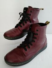 Dr. Martens Air Wair Leyton Oxblood Red Leather US Size 7