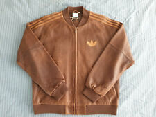 Adidas A-15 Leather Jacket Size Large sz L Brown Vintage Limited Edition