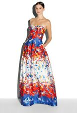 Rare New Milly NY AVA Multi-Color Strapless Gown Dress usa 2 Aso Celeb