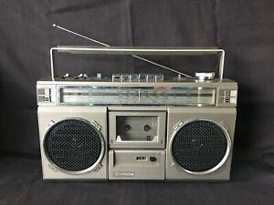 HITACHI STEREO CASSETTE RECORDER TRK-7100E VINTAGE BOOMBOX GHETTO BLASTER