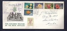 Netherlands  Antilles FDC 1955 Child Flowers Aruba