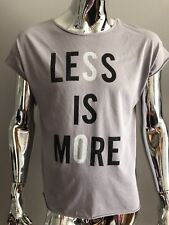 "Junk Food ""Less Is More""  Gray Color T-SHIRT Size M"