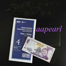 50pcs 16cm*7cm Currency banknotes Sleeves Holders Banknotes Bills pouch 4#