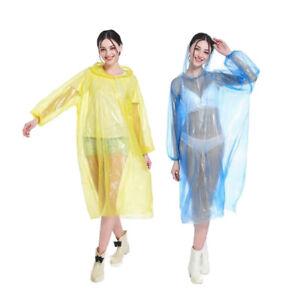 Pack of 2 UniSex Emergency Waterproof Disposable Outdoor Jacket Rain Coat Poncho