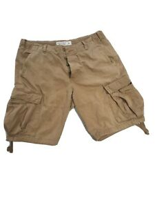 Abercrombie and Fitch mens cargo shorts size 36 sand colour