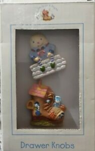 Nursery Rhymes Drawer Pulls For Nursery Decor, Humpty Dumpty/Old Ladie Lived In