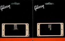 GIBSON Cream Pickup Rings Set Les Paul Creme Humbucker Mounting SG ES Genuine
