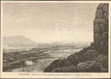 CANADA QUEBEC PETITE RIVIERE DE LA BALEINE LITTLE WHALE RIVER GRAVURE IMAGE 1887