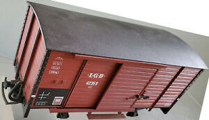 LGB 4235S Diesel Sound Brown 300mm Boxcar LN With 25th Anniversary Sticker 1993