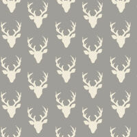 Buck Forest Art Gallery 100% cotton quilting & patchwork fabric Stag / Deer 1/2m