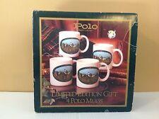 Polo Ralph Lauren Limited Edition 4 Polo Coffee Mugs Equestrian Tea Cups Vintage
