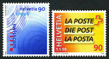 Switzerland 1010-1011, MNH. Division of Swiss PTT. Swisscom, Swiss Post, 1998