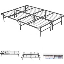 FULL SIZE PLATFORM METAL Bed Frame Mattress Foundation Heavy Duty Base Folding