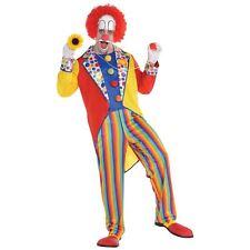 Adult Mens Classic Rainbow Circus Clown Party Suit Jumpsuit Fancy Dress Costume