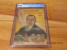 RARE 1957 MARTIN LUTHER KING AND THE MONTGOMERY STORY COMIC MAGAZINE CGC 5