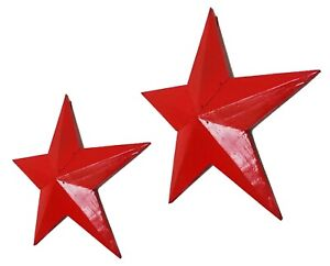 Wooden hanging star wall art red 39 or 52cm, vintage Retro style~NEW