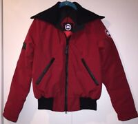 AUTHENTIC Canada Goose Women's Huron Bomber Jacket Red Medium Redwood NWT Down