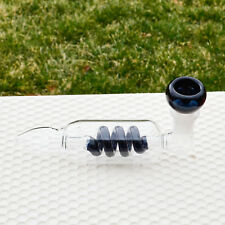 """Bold Black 5"""" INCH TOBACCO Smoking Pipe Herb bowl Glass Hand Pipes"""