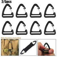Alloy Triangle Carabiner Hooks Spring Quickdraws Clip Keychain Belt Buckles
