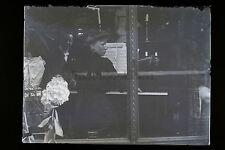 Scène de famille Leçon de piano France Vintage Plaque verre positif 9x12 cm