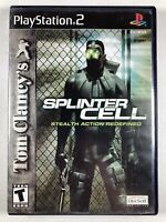 Tom Clancy's SPLINTER CELL Stealth Action Redefined Playstation 2 PS2 COMPLETE