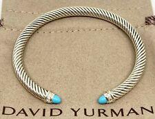 David Yurman 5MM Cable Classic Turquoise & Diamonds Bracelet
