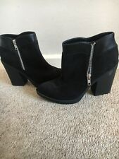 Asos Black Ankle Boots Suede Style Size 39 / Uk 6 New, never worn
