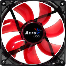 Aerocool 12 cm 120 mm LED rojo Fan Cooler caso Pc Computadora aletas refrigeración 3 y 4 Pin